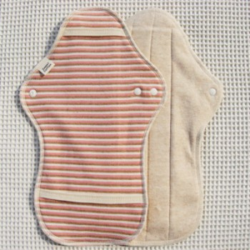Organic Cotton Pad Night - Pink Border