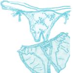 rene rofe crotchless panty